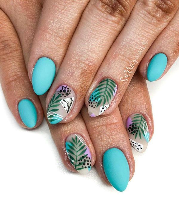 29 Leaf Nail Art Designs