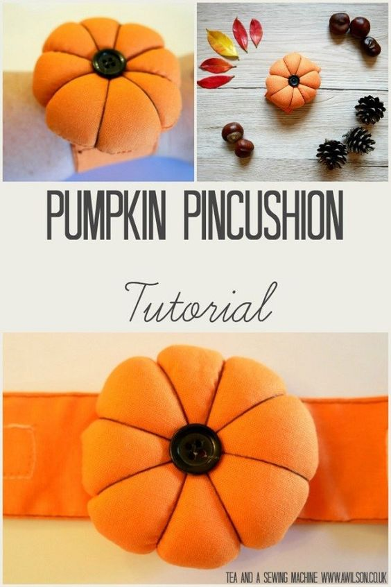 29 Pumpkin pincushion for your wrist