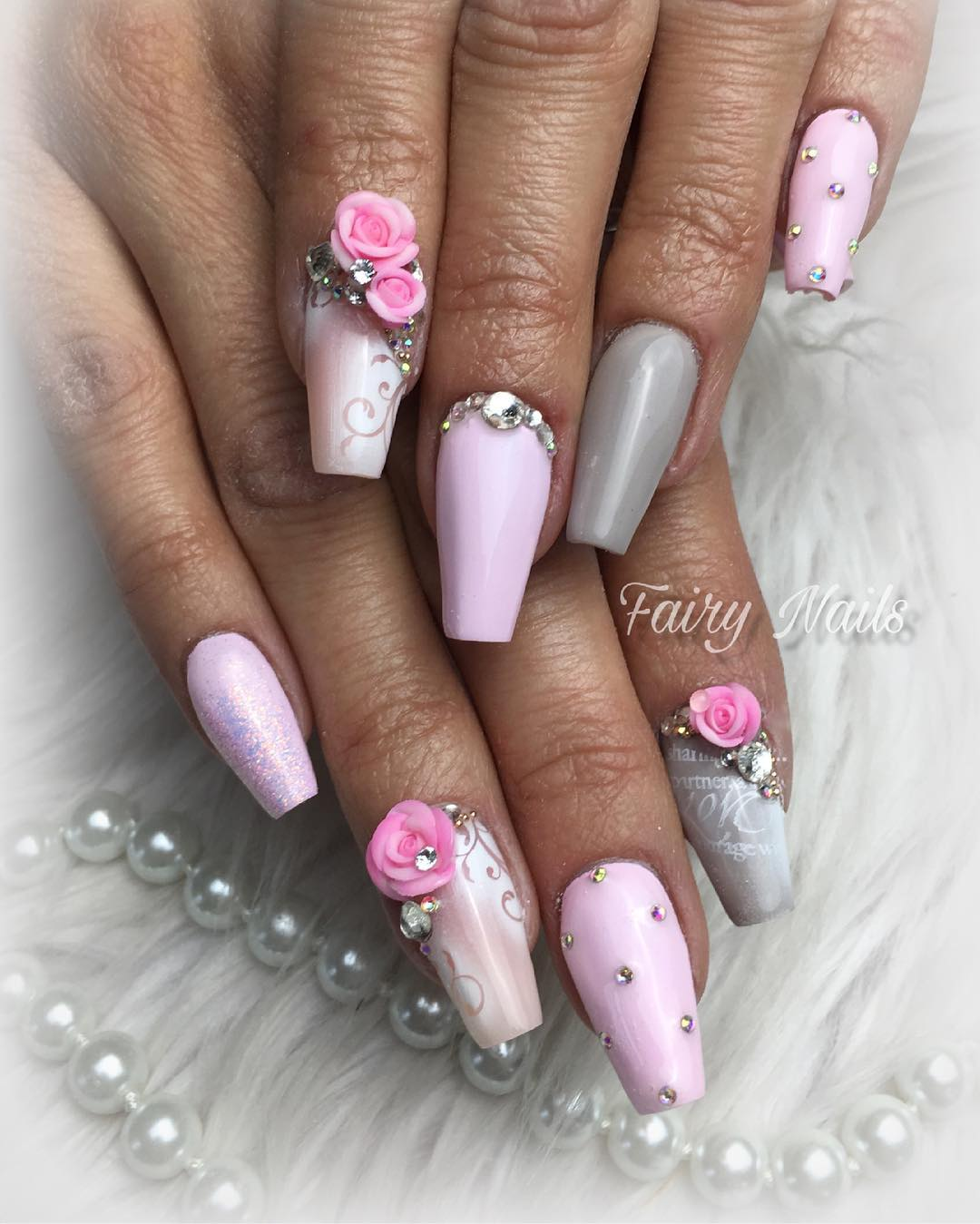 3 3D Flower Nail Art Designs