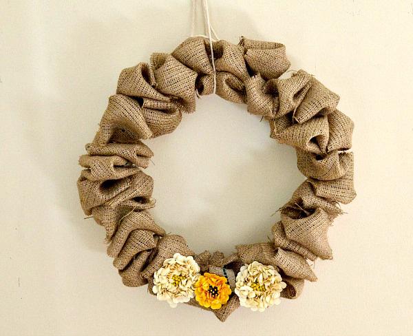 3 Fluffy Burlap Wreath