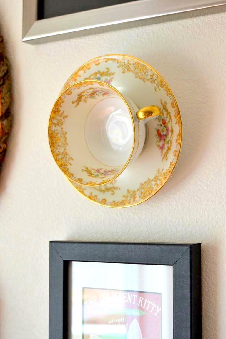 3 Hanging Teacup Wall Art