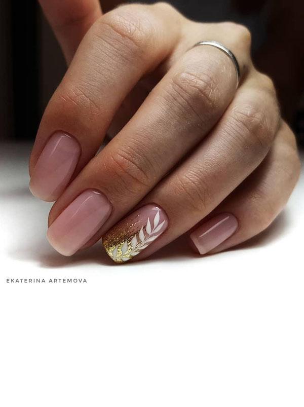 3 Leaf Nail Art Designs