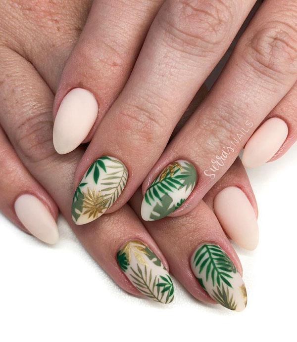 30 Leaf Nail Art Designs