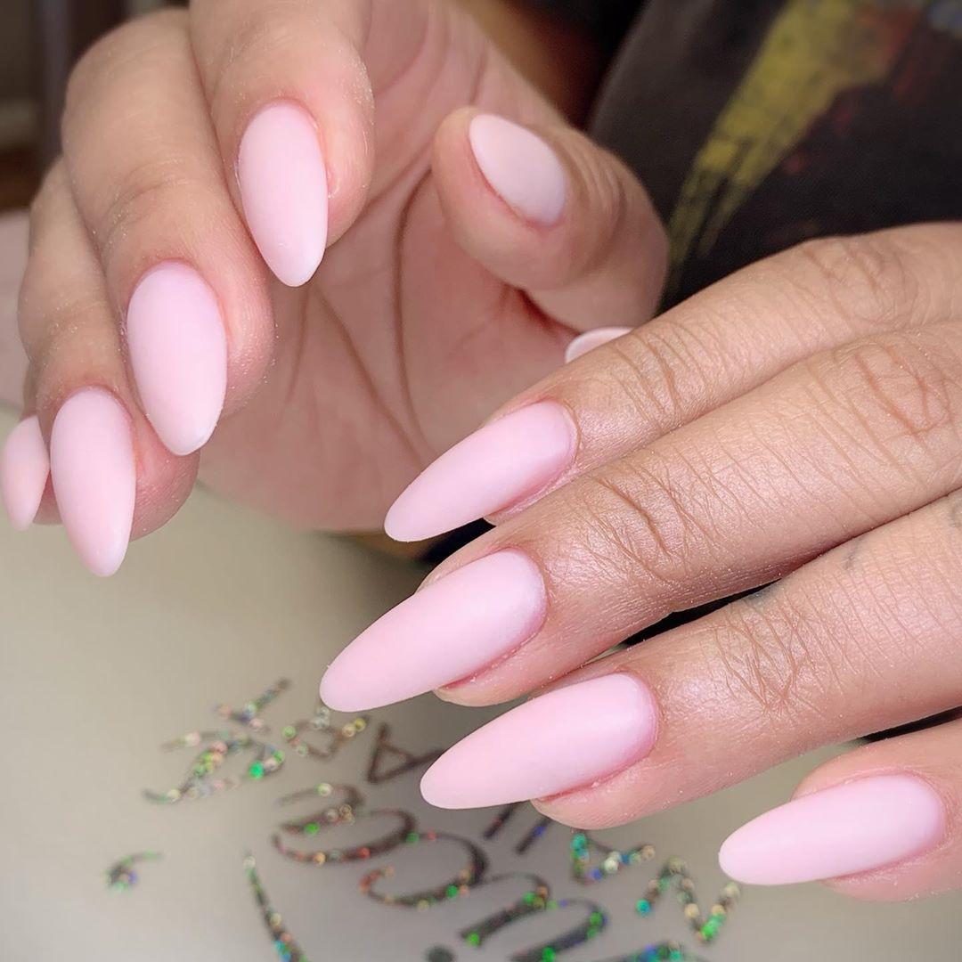30 Matte Almond Shaped Nail Designs