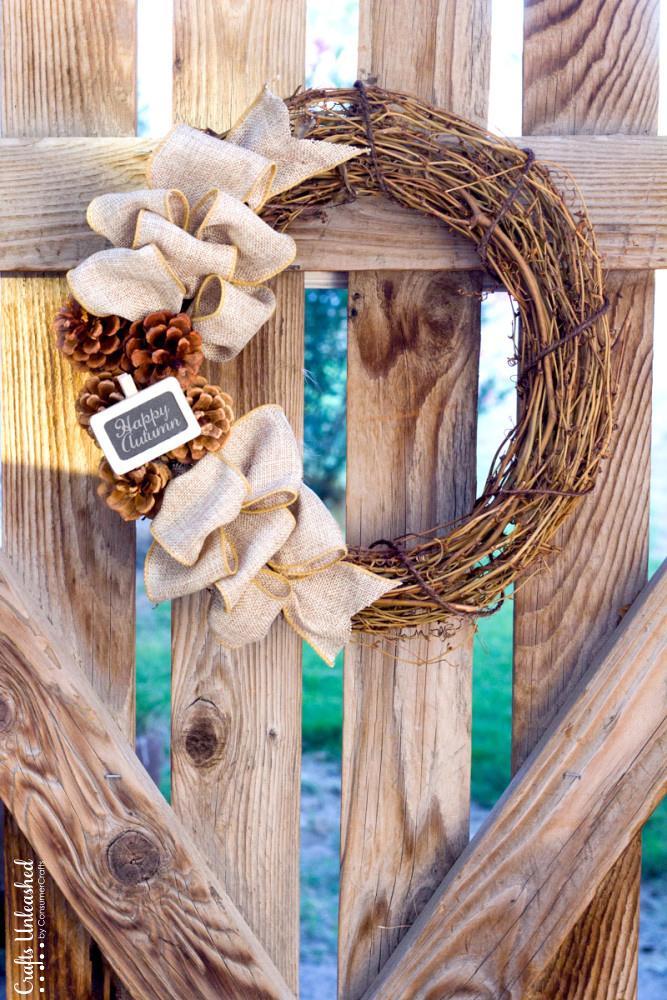 30 Rustic DIY Fall Wreath