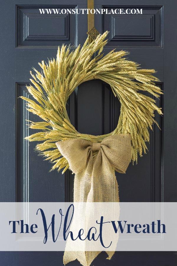 31 DIY Fall Wheat Wreath