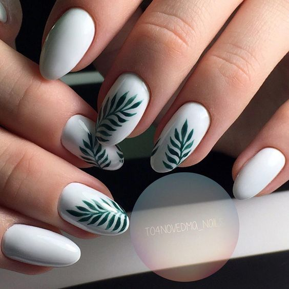 31 Leaf Nail Art Designs
