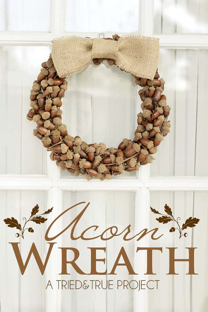 32 FALL WREATHS WITH ACORNS