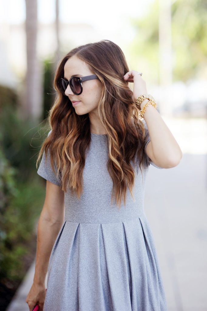 32 Pleated Fit And Flare Dress