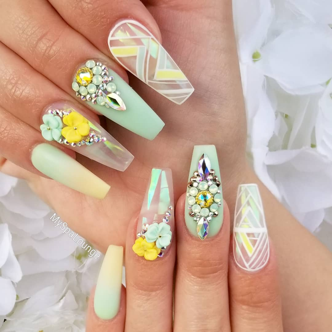 33 3D Flower Nail Art Designs