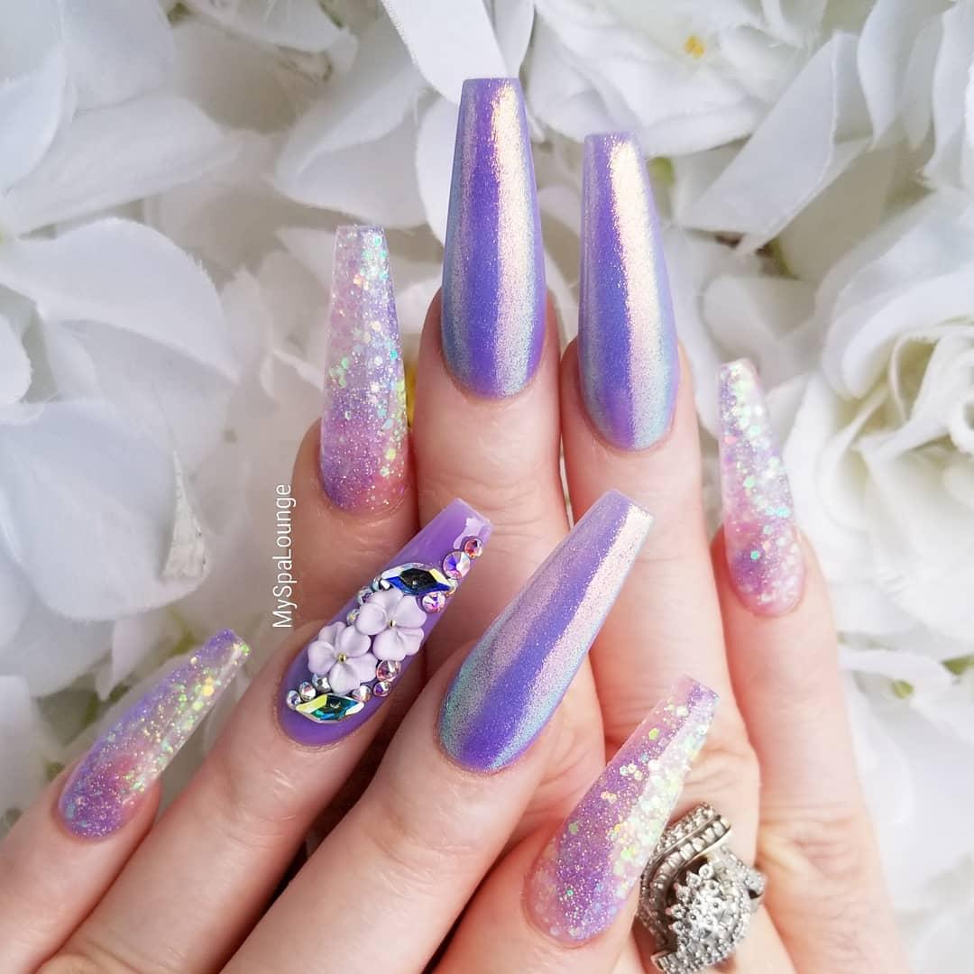 34 3D Flower Nail Art Designs