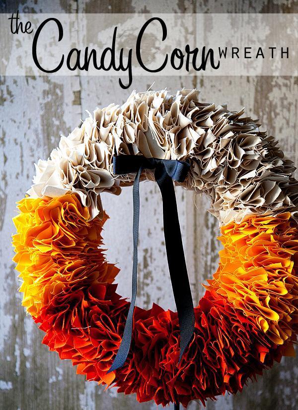 34 Candy Corn Wreath