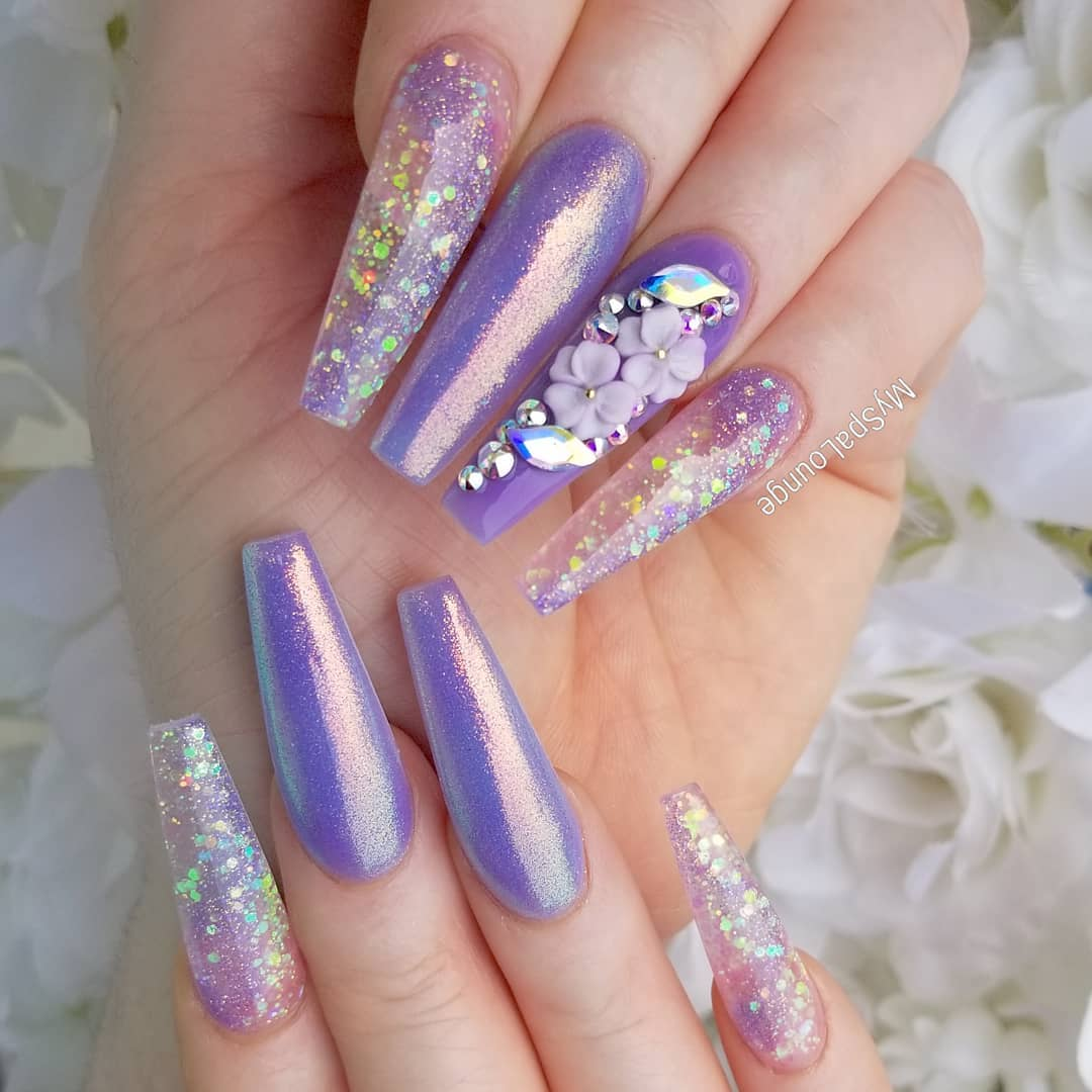 35 3D Flower Nail Art Designs