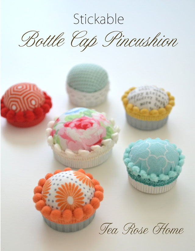 35 Stickable Bottle Cap Pincushion