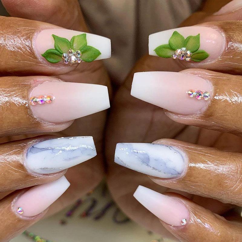 37 3D Flower Nail Art Designs