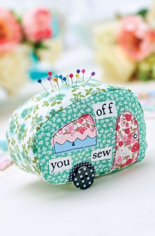37 Caravan Patchwork Pincushion