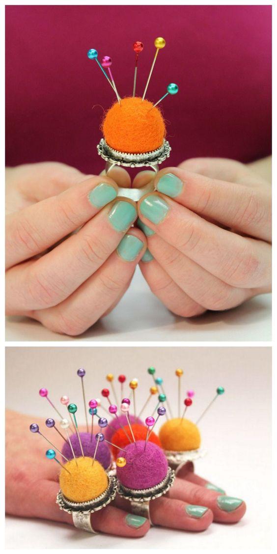 38 Pretty Little Pincushion Ring