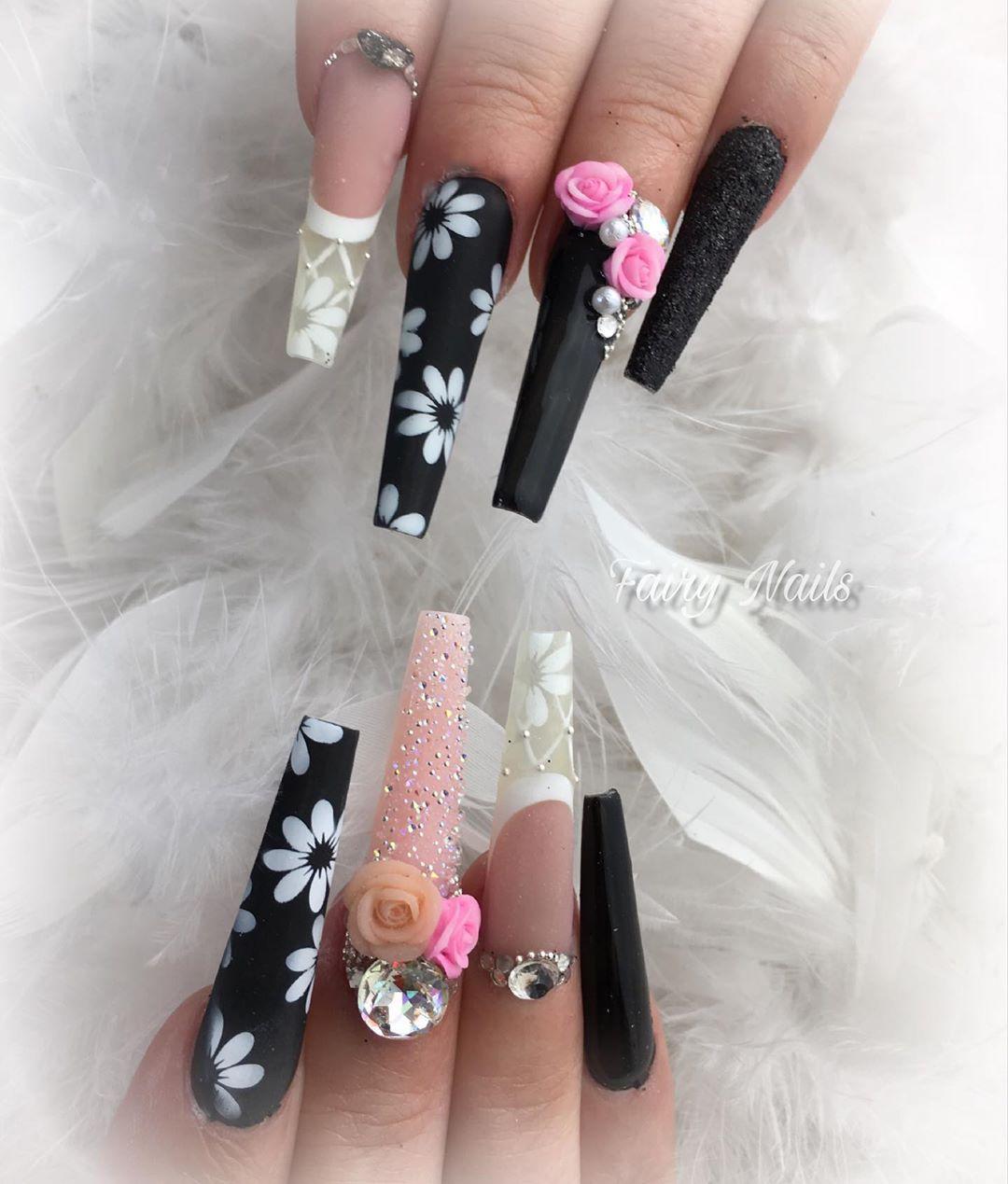 4 3D Flower Nail Art Designs