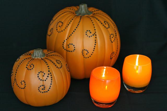 4 Jeweled Pumpkins