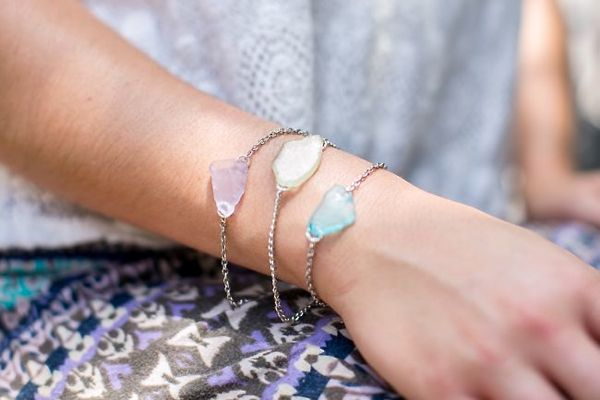 4 Sea Glass Bracelet