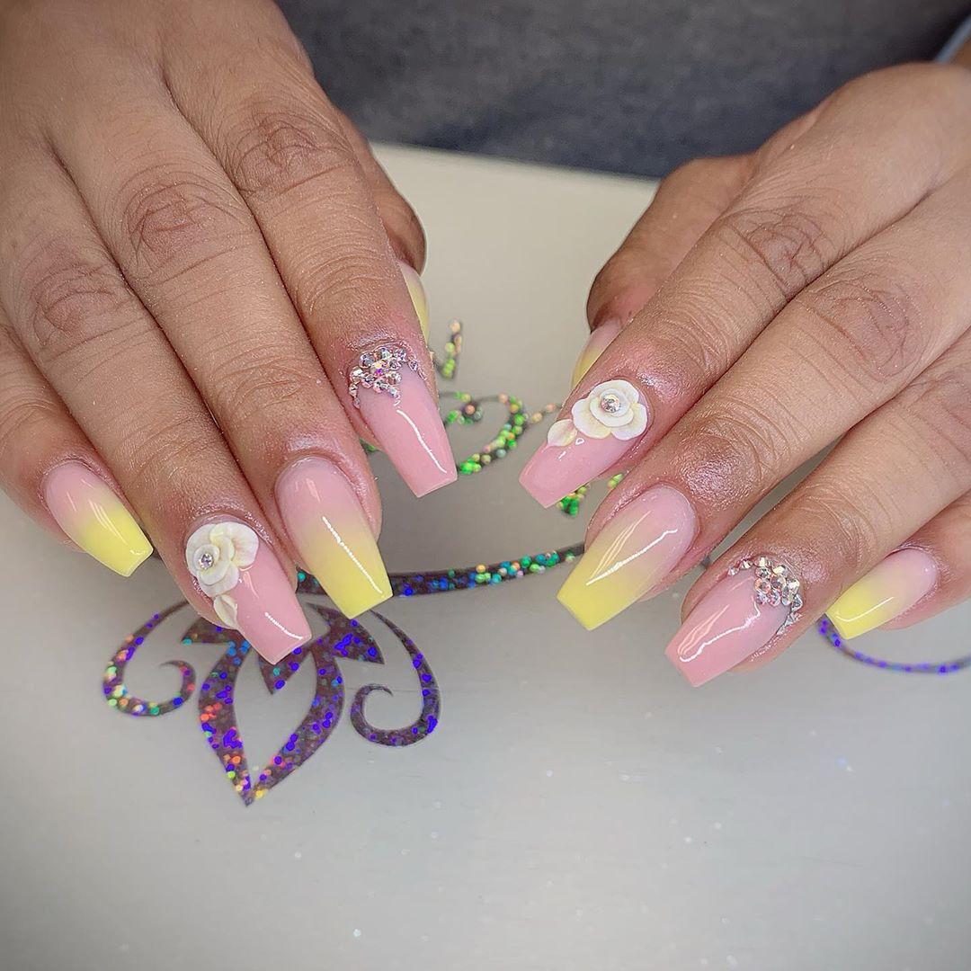 42 3D Flower Nail Art Designs