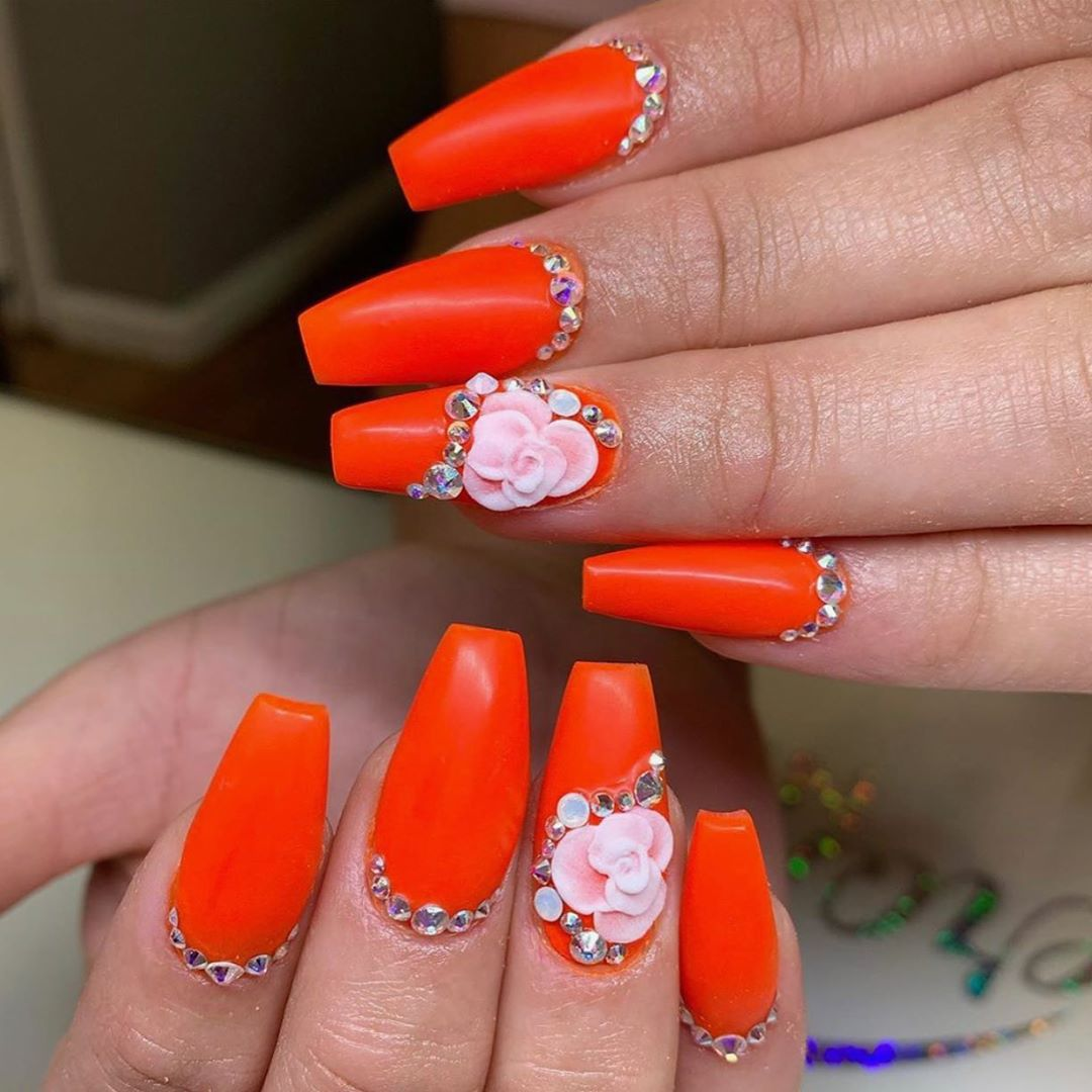43 3D Flower Nail Art Designs