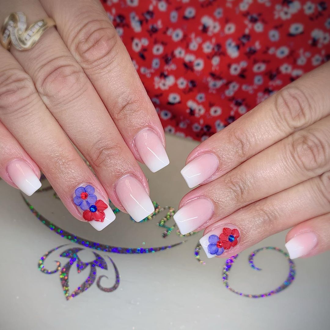 46 3D Flower Nail Art Designs