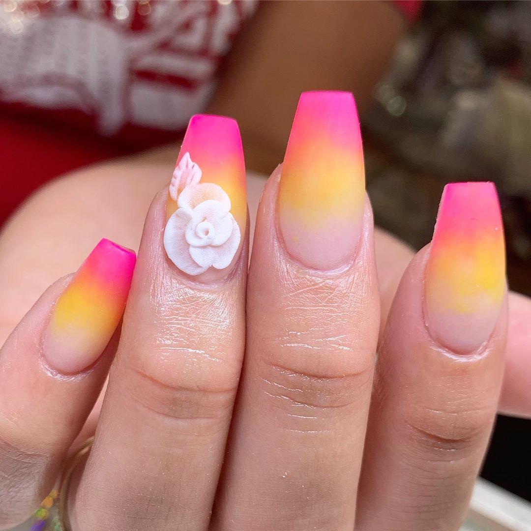 49 3D Flower Nail Art Designs