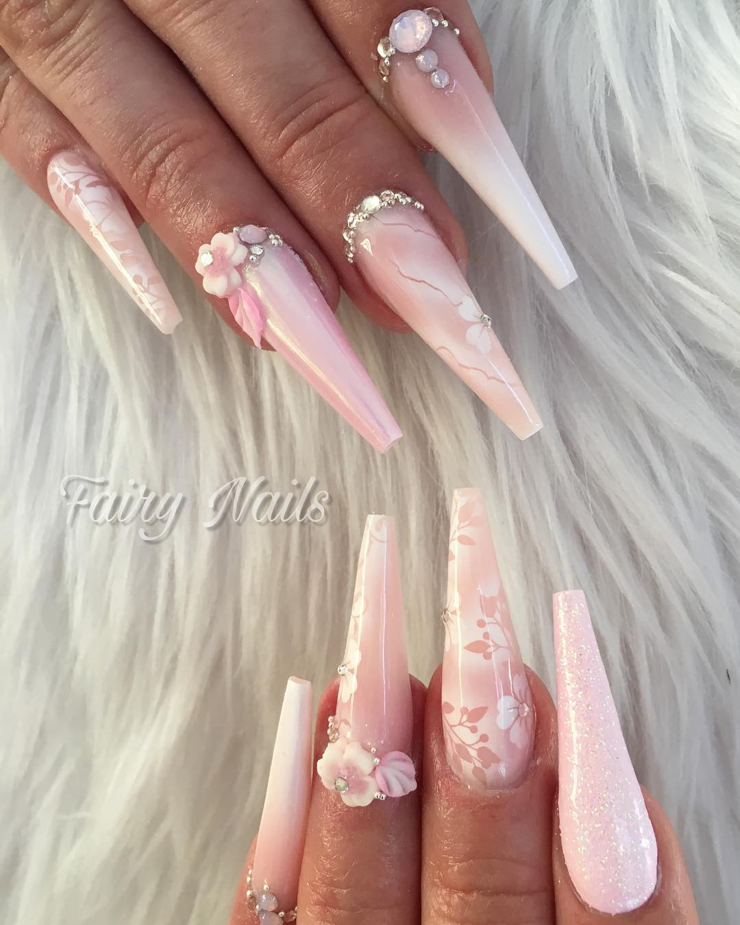 5 3D Flower Nail Art Designs