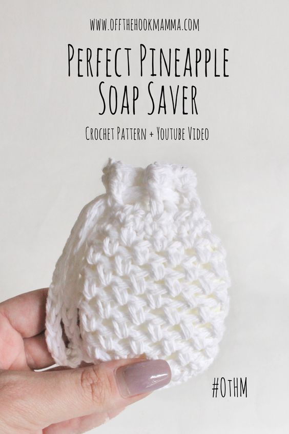 5 Pineapple Soap Saver Pattern