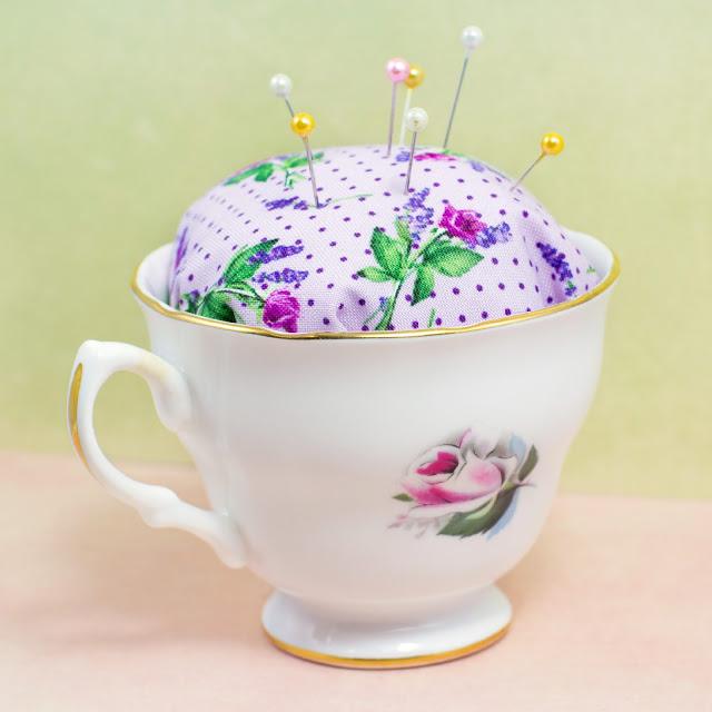 5 Teacup Pincushion