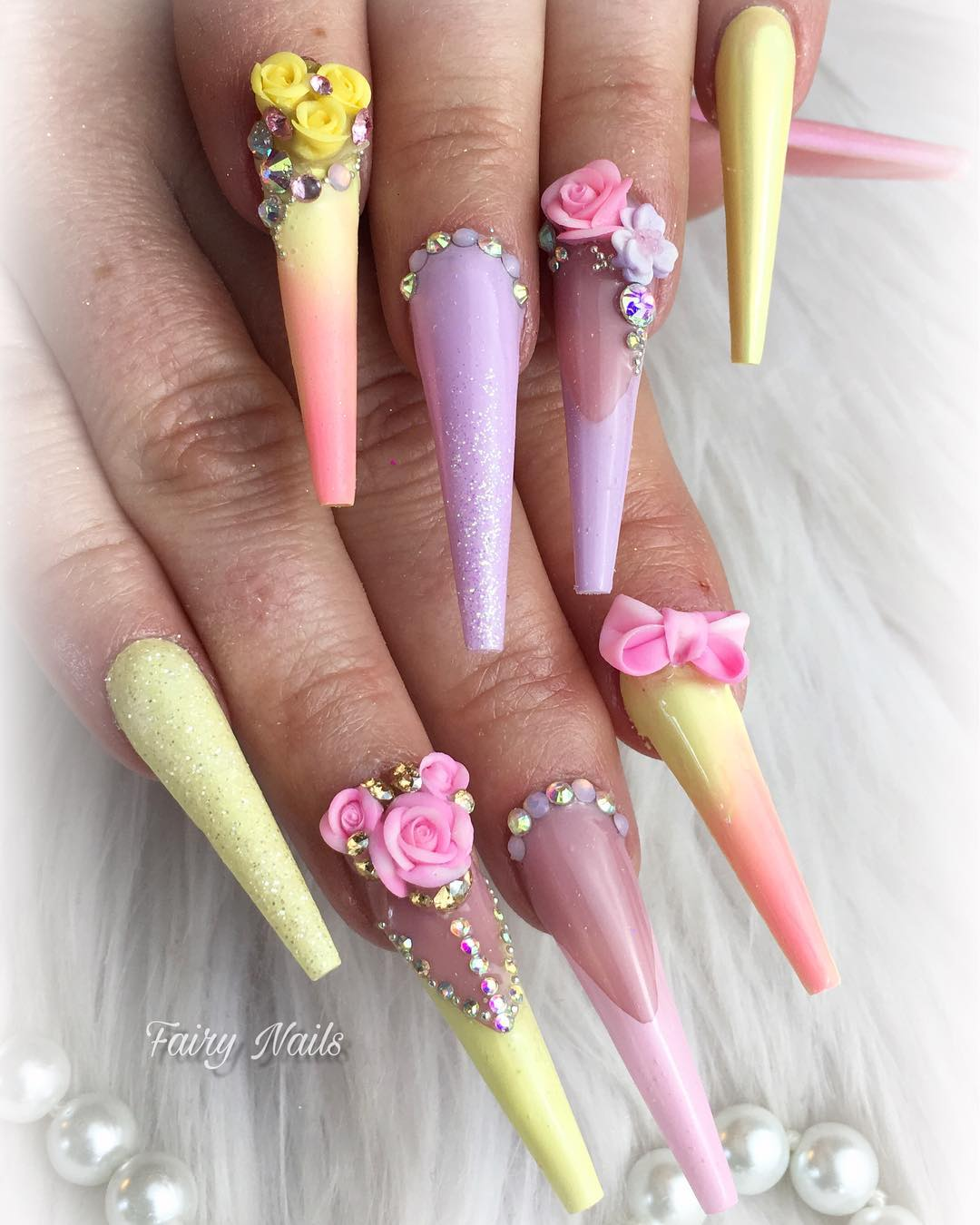 6 3D Flower Nail Art Designs