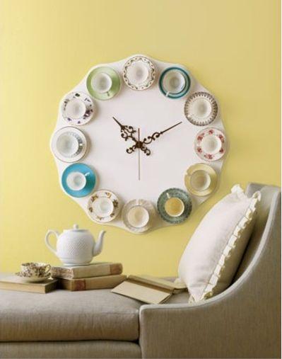 6 DIY Teacup Clock