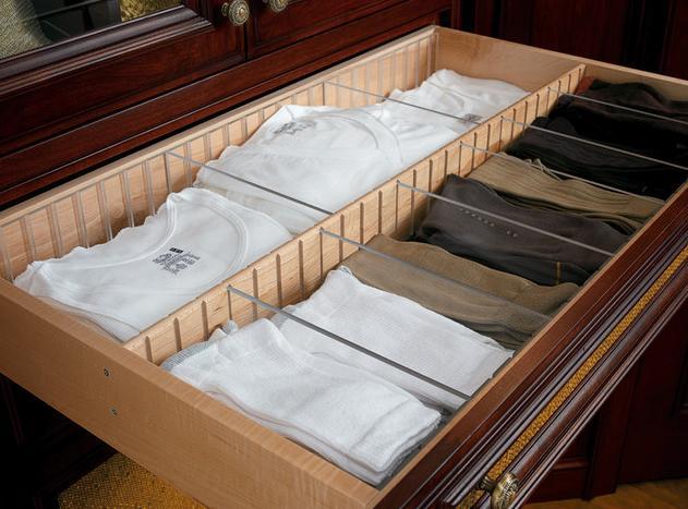6 Drawer divider for undershirts socks