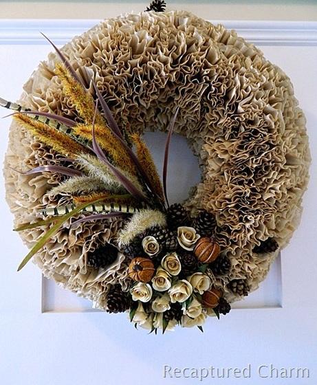 6 Fall Coffee Filter Wreath