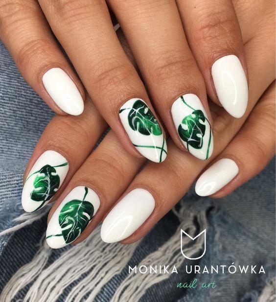 6 Leaf Nail Art Designs