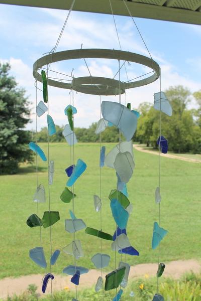 6 Sea Glass Wind Chime