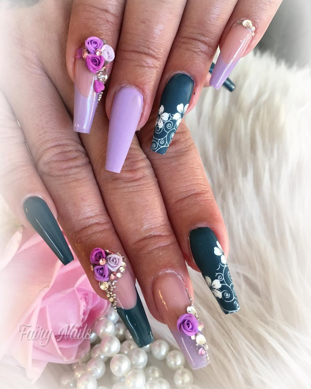 7 3D Flower Nail Art Designs