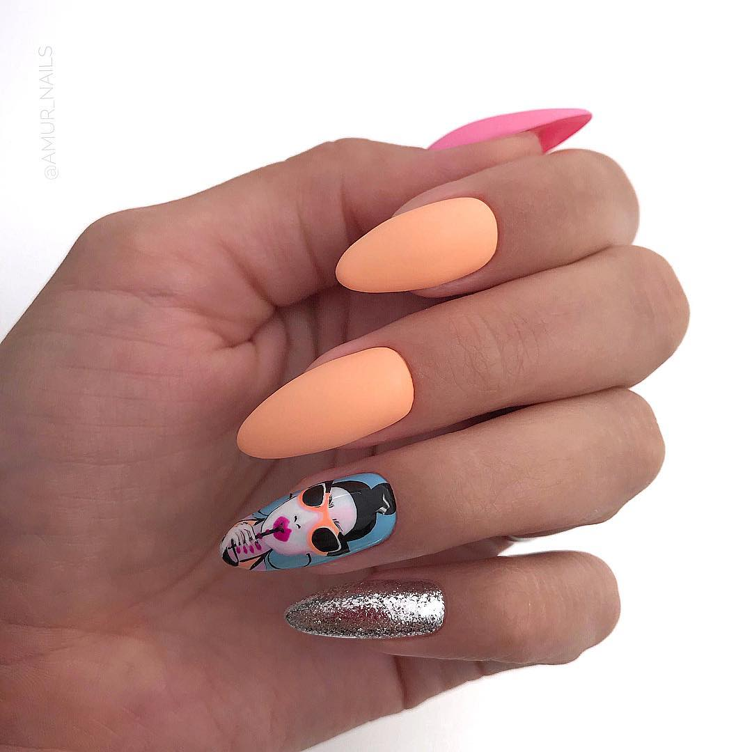 7 Matte Almond Shaped Nail Designs