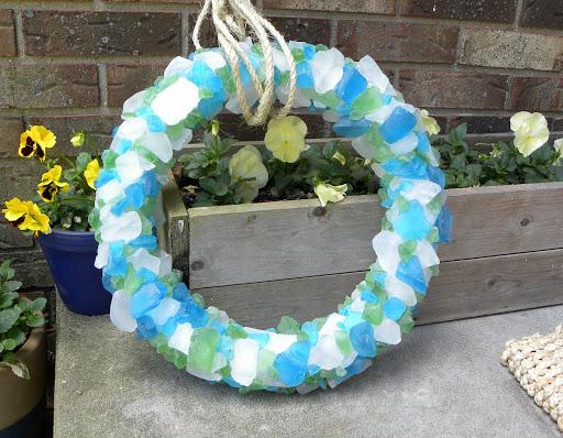 7 Sea Glass Wreath