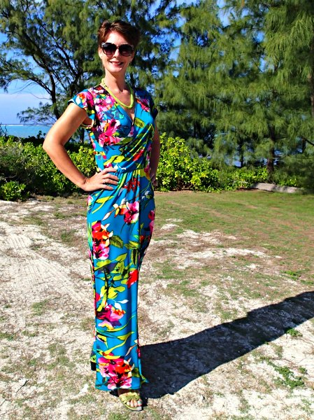 7 Tropical Wrap Dress Pattern