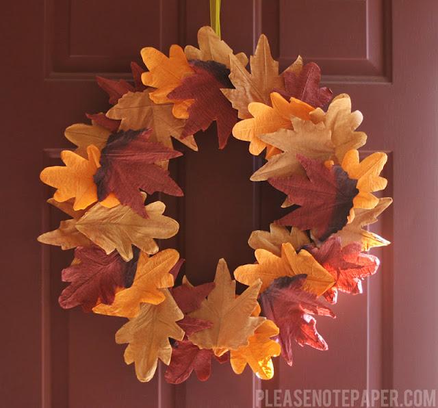 8 Faux Leaf Fall Wreath