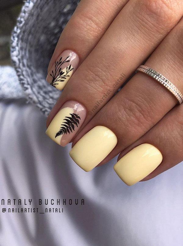 8 Leaf Nail Art Designs