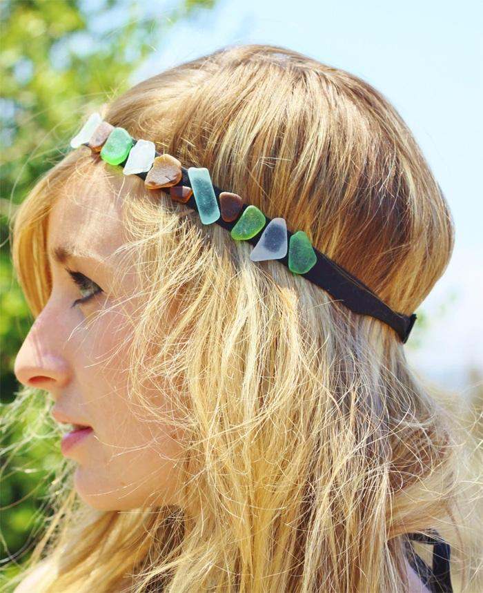 8 Sea Glass Headband