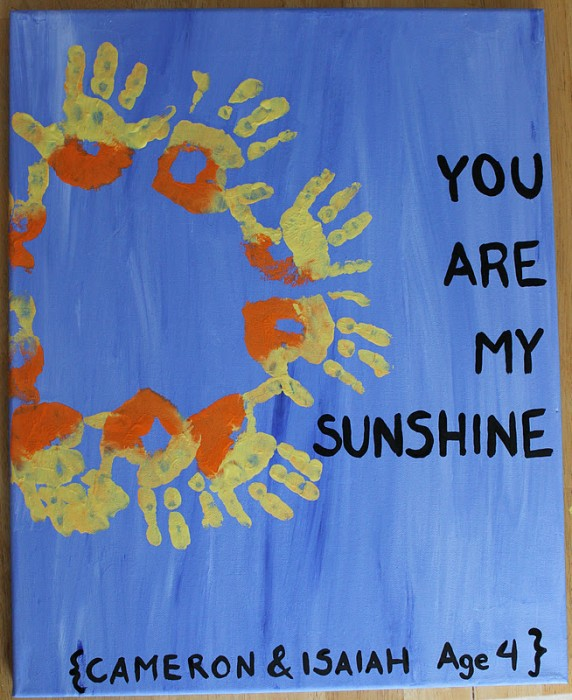 8 You Are My Sunshine Canvas
