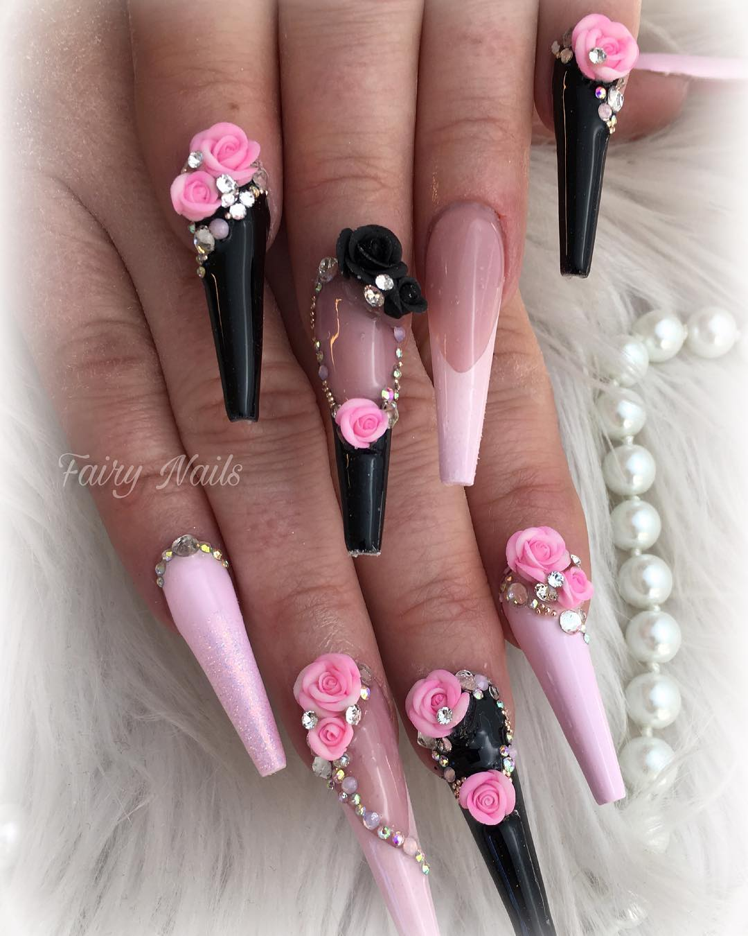 9 3D Flower Nail Art Designs