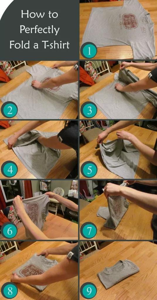 9 Folding T-Shirts