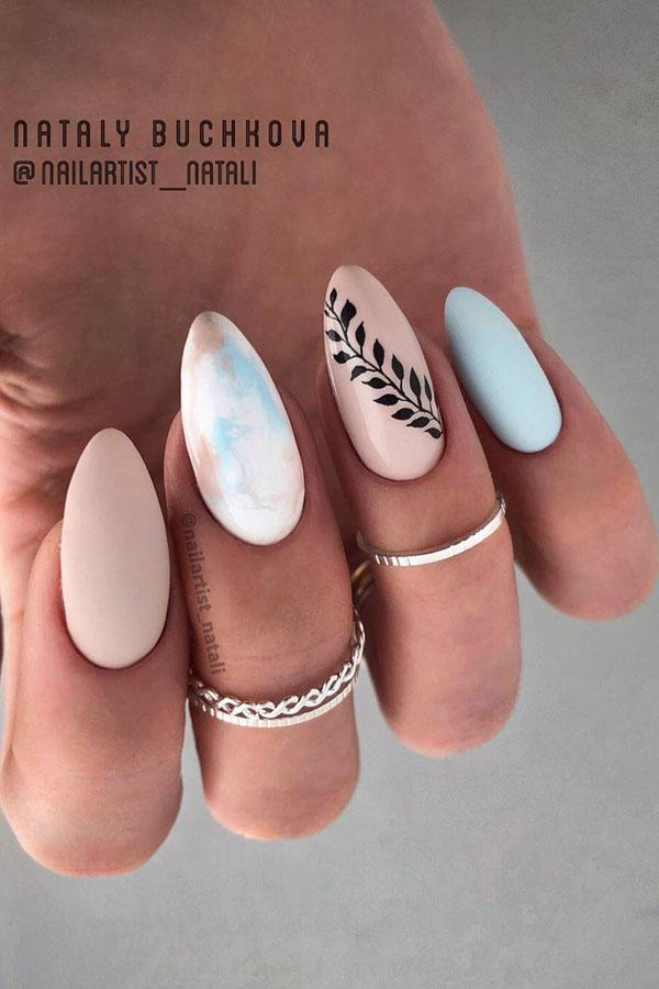 9 Leaf Nail Art Designs