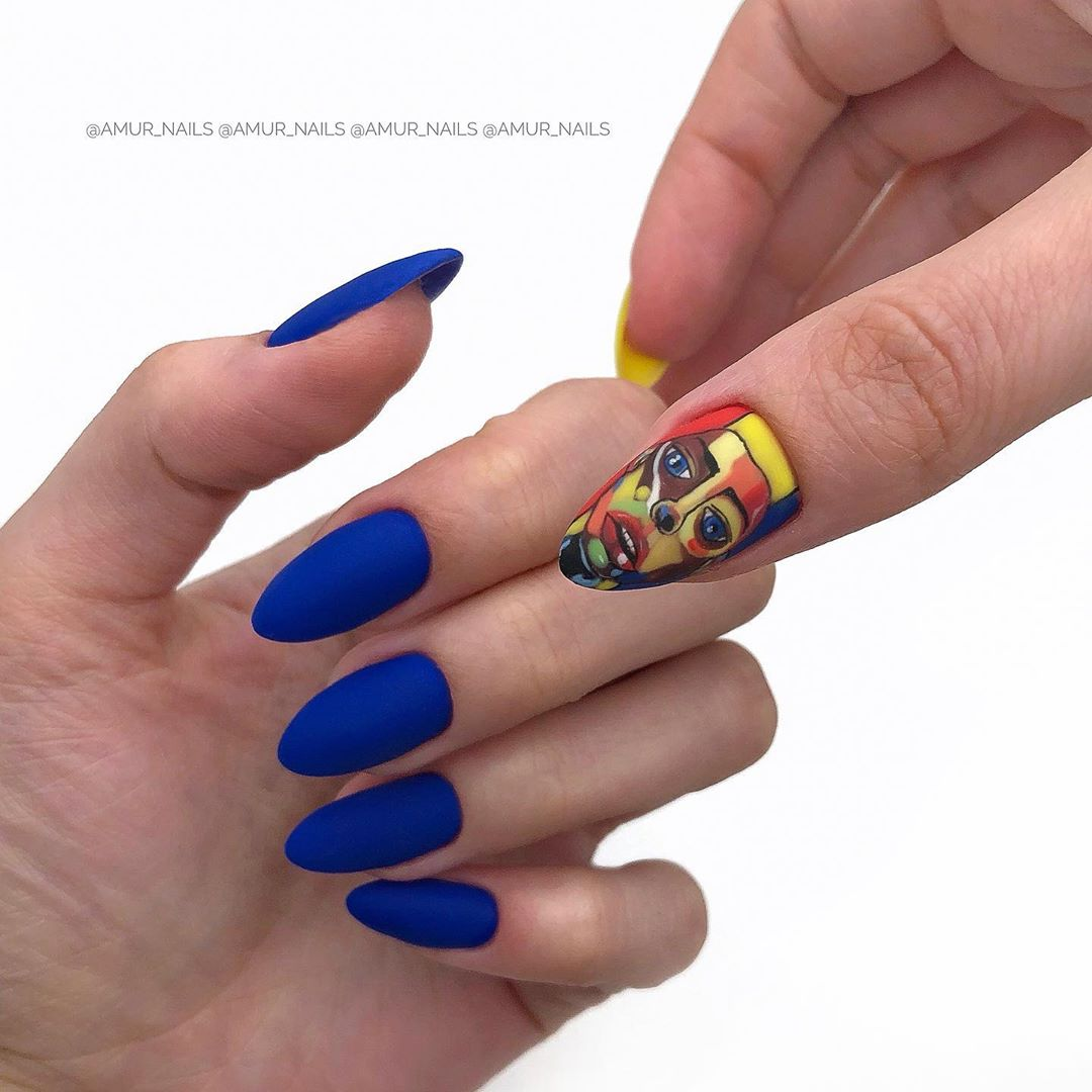 9 Matte Almond Shaped Nail Designs