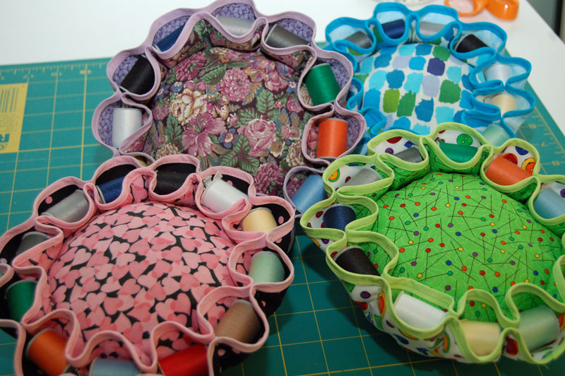 9 Pincushions with Thread Caddy Nests